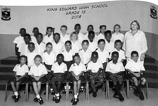 A racially mixed class at King Edward High.