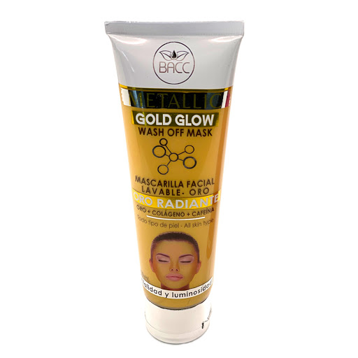 Mascarilla Facial Bacc Lavable Gold Glow 100Ml