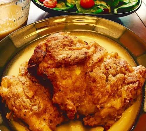 """Spicy Oven Fried Chicken """"This is dinner today and I just had..."""