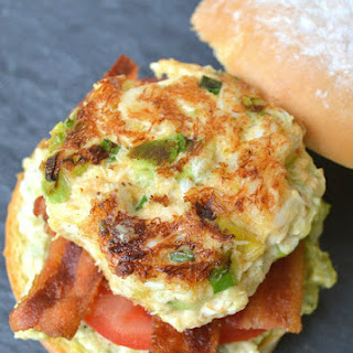 Avocado Crab Cake Sandwich With Bacon & Spicy Avocado Remoulade