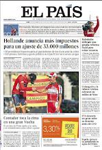 Photo: En la portada de EL PAÍS del lunes 10 de septiembre: Hollande anuncia más impuestos para recortar 33.000 millones; Rubalcaba define una reforma fiscal en España para evitar más ajustes; Urdangarin y la infanta Cristina cobraron un millón de Nóos; Alberto Contador gana una Vuelta a España trepidante. http://srv00.epimg.net/pdf/elpais/1aPagina/2012/09/ep-20120910.pdf
