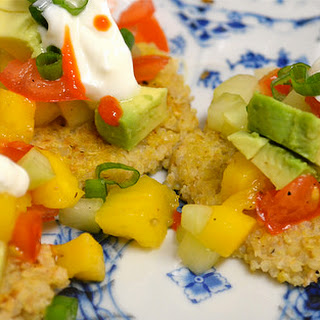 Vegan Quinoa Cakes With Cucumber-mango Salsa