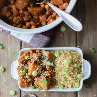 Korean Chickpeas, Carrots & Potatoes Over Quinoa.