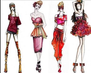 fashion designs sketch ideas screenshot thumbnail - Fashion Design Ideas