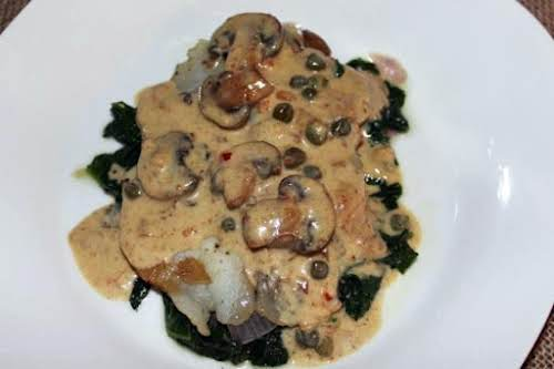 """Tilapia in Mustard Cream Sauce """"I've had rave reviews for this dish,..."""