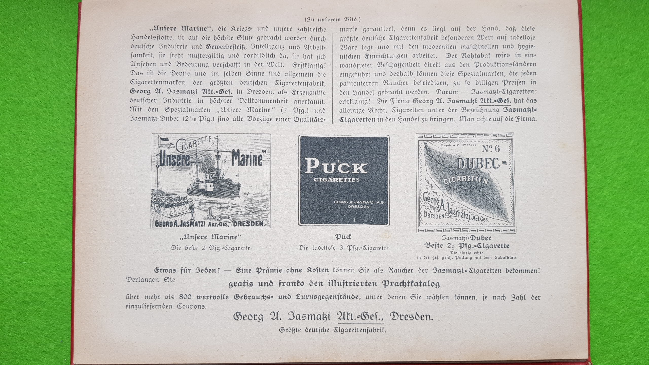 Großer Volkskalender des Lahrer hinkenden Boten - 1914 - Werbung Jasmatzi