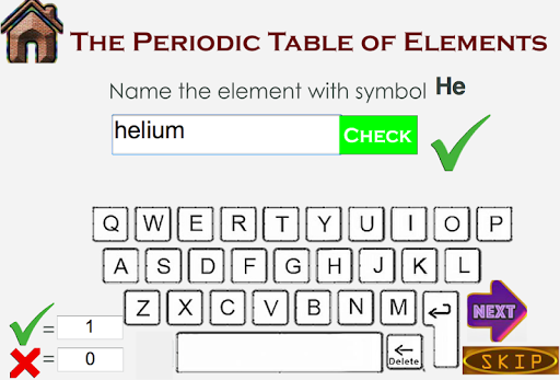 Periodic Table Of Elements Study Quiz Modes Apk Download