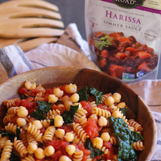 Harissa Pasta with Kale and Chickpeas