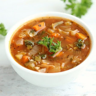Low Calorie Spicy Cabbage Soup.