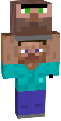 steve is cool, villager is cool