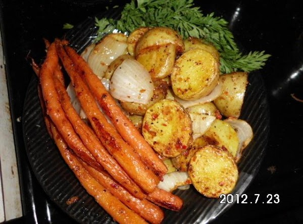 You can use this recipe for roasting veggies, just coat with olive oil, sprinkle...