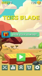 ApkMod1.Com Toss Blade + (Unlimited Gold Coins) for Android Casual Game