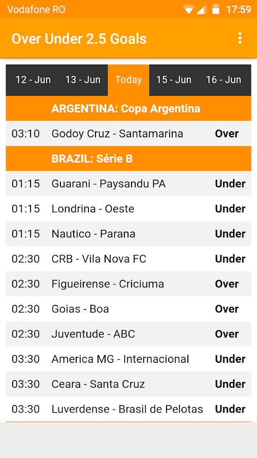 Over Under 2.5 Goals - Football Predictions- screenshot