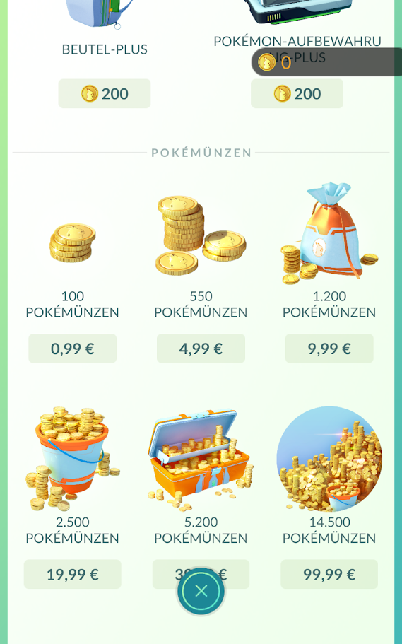 Kaufe dir für echtes PokéMünzen