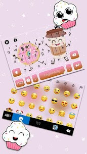 Coffee And Donut Keyboard Theme 3