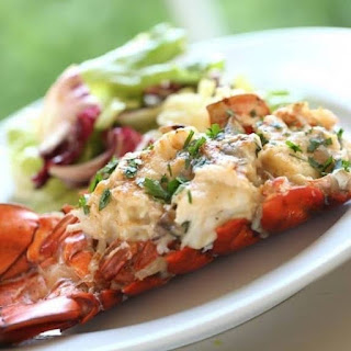 Oven Cooked Lobster Tails.