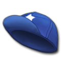 青いやきゅう帽
