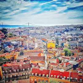 Lisbon rooftops by Carole Sims - Buildings & Architecture Homes ( view, lisbon, rooftops, portugal )