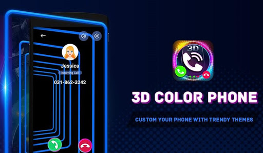 3d color phone: cool themes for call & home screen screenshot 1