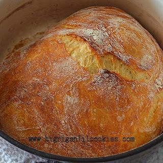 Overnight Crusty Artisan Bread.