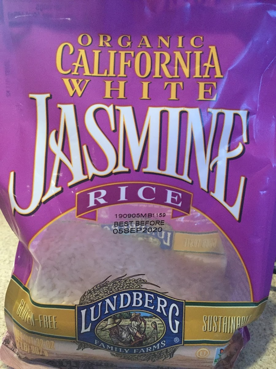 Organic Californial White Jasmine Rice