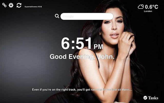 Kim Kardashian Best Wallpaper Tab Theme