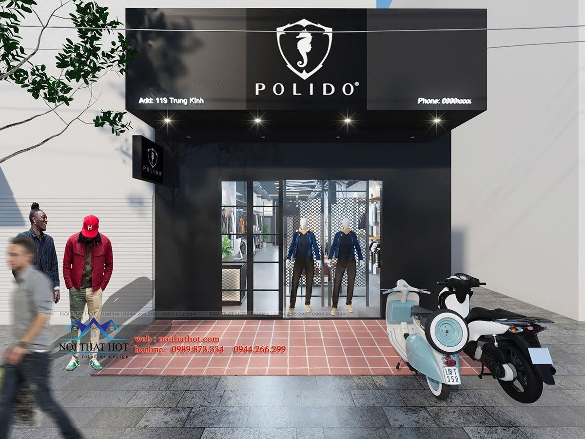 thiết kế shop thời trang nam polido 1