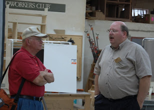 Photo: Carl Powell chats with Fred Glock, a visiting guest from the Cleveland area. Fred assisted with photography and got some great shots.