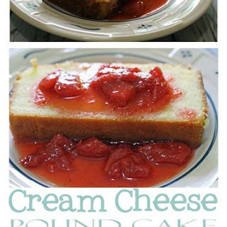 Cream Cheese Pound Cake with Homemade Strawberry Syrup