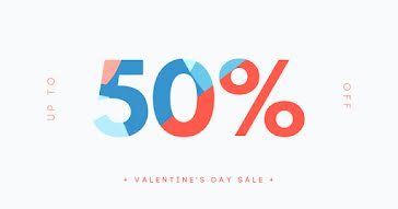 50% Off Valentine's Day Sale - Valentine's Day Template