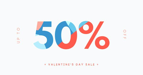 50% Off Valentine's Day Sale - Valentine's Day Template