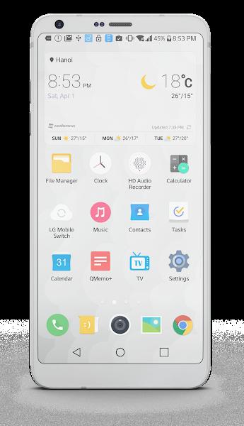 Outline Theme for LG G6 G5 V20 v2.0