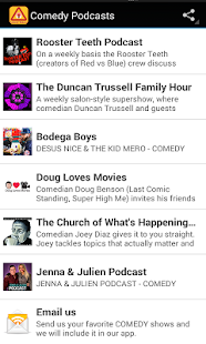 Comedy Podcasts- screenshot thumbnail