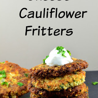 Cheese & Cauliflower Fritters