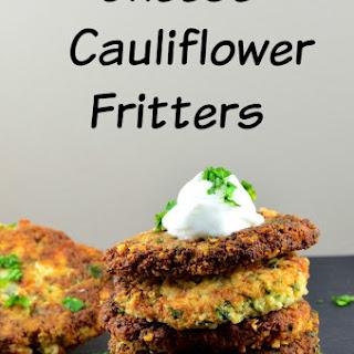 Cheese & Cauliflower Fritters.