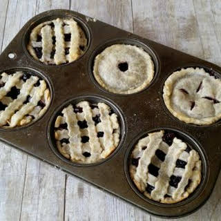 Blueberry Cheesecake Mini Pies.