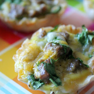Mini Sausage & Egg Omelet Phyllo Cups