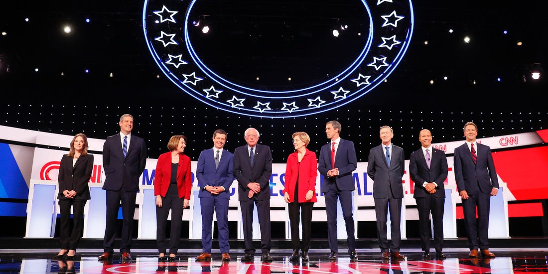 Image result for candidates 2020 debates