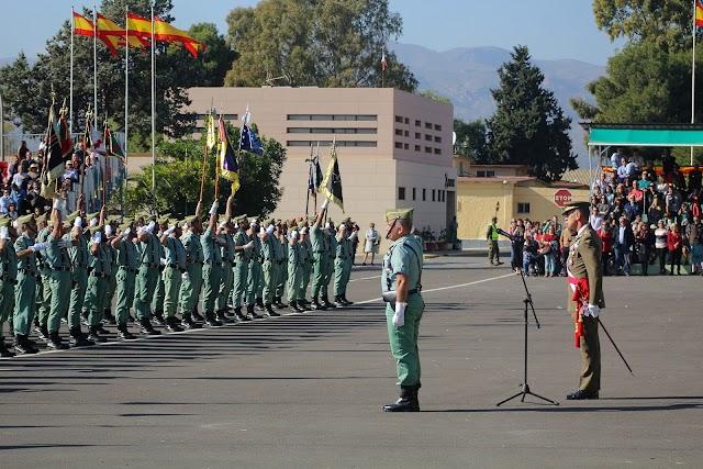 El general de división Fernando García, presidió el acto; y el jefe de la Formación, el coronel Luis Francisco Cepeda.