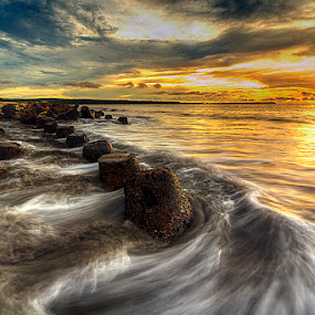 sunset by Tut Bolank - Landscapes Waterscapes ( bali, sea breeze, airport bali, kuta beach )