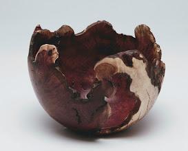 """Photo: Tim Aley 4"""" x 4"""" natural edge bowl [manzanita root burl]"""