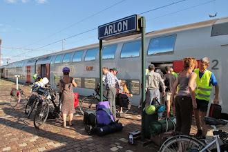 Photo: Arrivée à Arlon