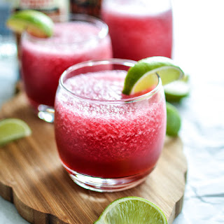 Tart Cherry and Hibiscus Beer Margaritas