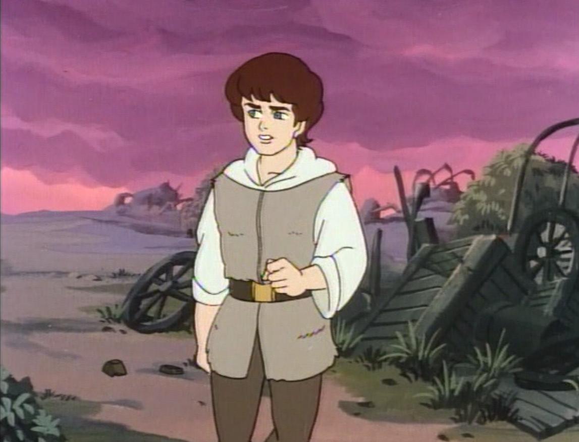 Anime waif, a.k.a. Lorne, in a junkyard