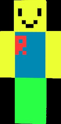 Minecraft Roblox Noob Skin