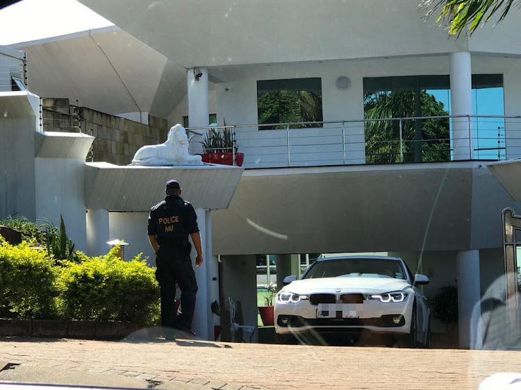 A team comprising of officials from the South African Revenue Service, members of the National Intelligence Unit and SAPS descended on the home of Shawn and Sbu Mpisane on Wednesday, March 13 2019.