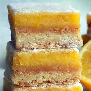 Lemon Bars with Lemon Curd.
