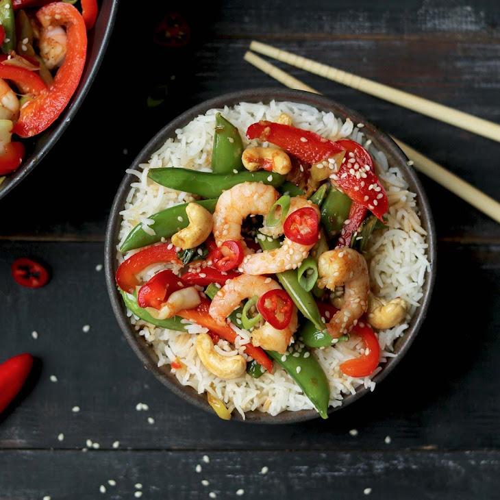 Spicy Prawn Stir Fry