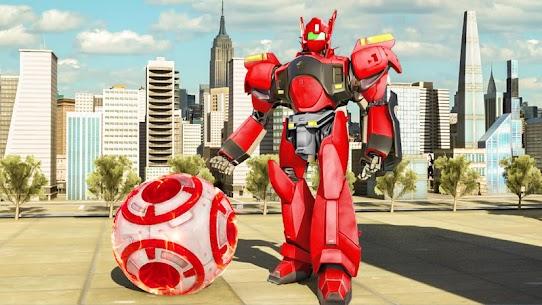 Futuristic Robot Flying Ball Battle 4