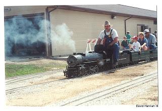 Photo: David Hannah Photo HALS-SWLS 2001-0526   Vance Nickerson on David Hannah's D&RGW 1209
